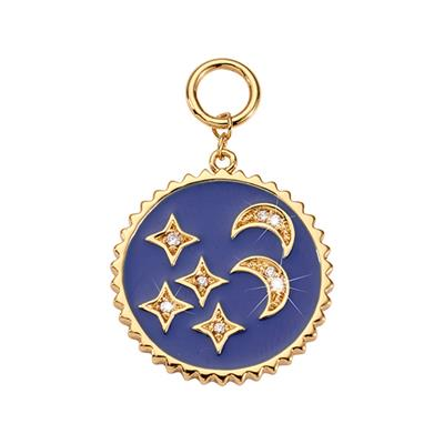 Buy Nikki Lissoni Gold Blue Night Amulet
