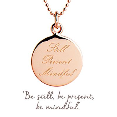 Buy Mantra Still Present Mindful Necklace in Rose Gold