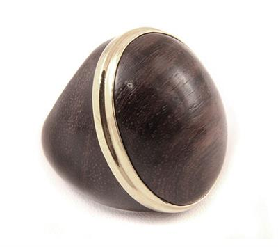 Buy The Branch Rosewood Dome Ring with Gold
