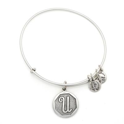 Buy Alex and Ani U Initial Bangle in Rafaelian Silver