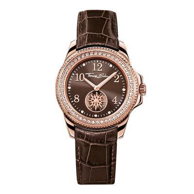 Buy Thomas Sabo Ladies Rose Gold Brown Leather Watch
