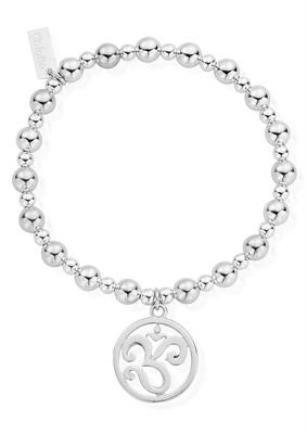 Buy ChloBo Silver Mini Ball Om Disc Bracelet