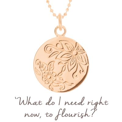 Buy Mantra Flourish Flower Disc in Rose Gold