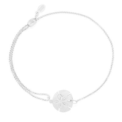 Buy Alex and Ani Sand Dollar Precious Pull Chain Bracelet in Silver