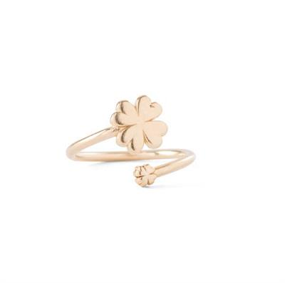 Buy Alex and Ani Four Leaf Clover Ring Wrap in Gold