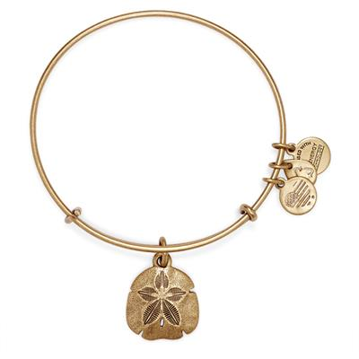 Buy Alex and Ani Sand Dollar bangle in Rafaelian Gold Finish