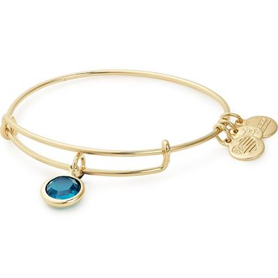 Buy Alex and Ani December Blue Zircon Birthstone in Rafaelian Gold Finish