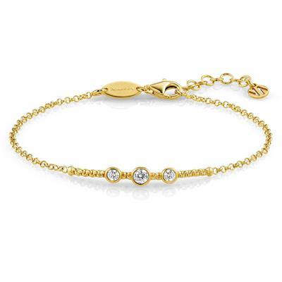 Buy Nomination Bella Yellow Gold and CZ Bracelet