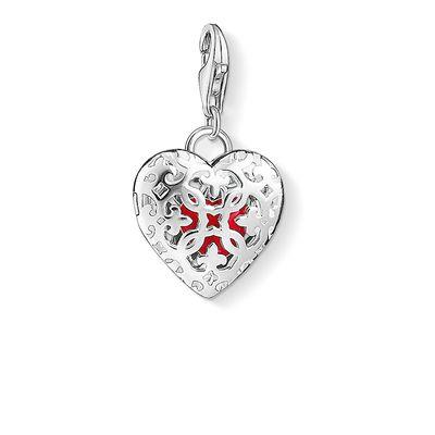 Buy Thomas Sabo Silver Locket Red Heart Charm