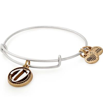 Buy Alex and Ani V Initial Two-Tone Bangle