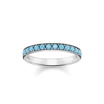 Buy Thomas Sabo Silver and Turquoise Ring Size 58