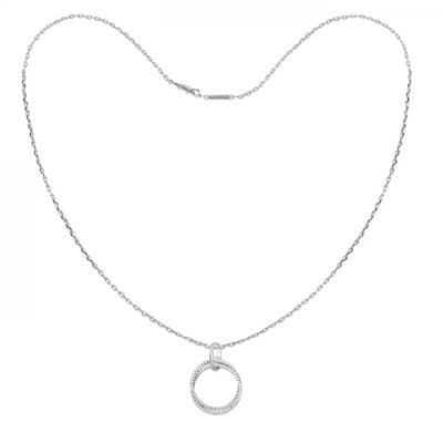 Buy Tresor Paris White Gold Double Hoop Allure Necklace