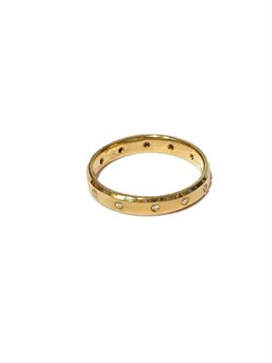 Buy Precious Gems 18ct Gold Bevelled Edge Ring Size O 1/2