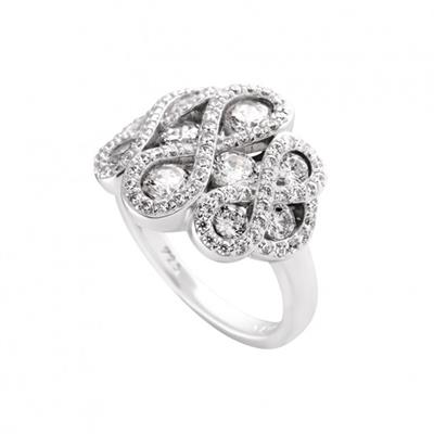 Buy Diamonfire Silver Figure of Eight Ring Size P