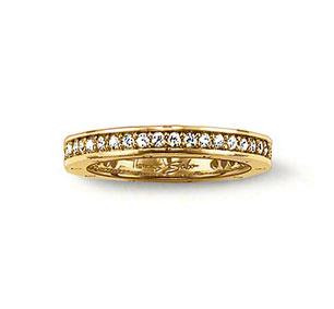 Buy Thomas Sabo Eternity Ring Yellow Gold Plated Size 54