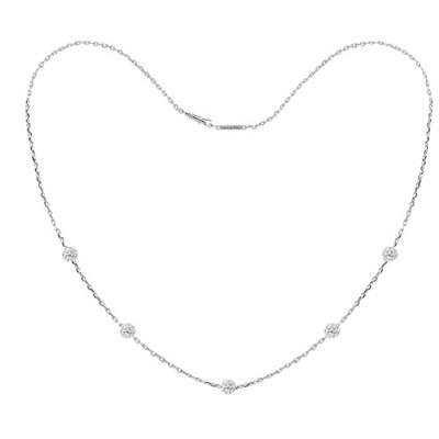 Buy Tresor Paris White Gold Crystal Chain Necklace