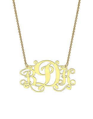 Buy me.mi Monogram Necklace in Yellow Gold