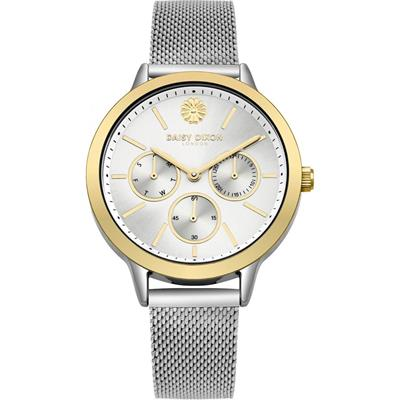 Buy Daisy Dixon Heidi Yellow Gold and Silver Mesh Watch