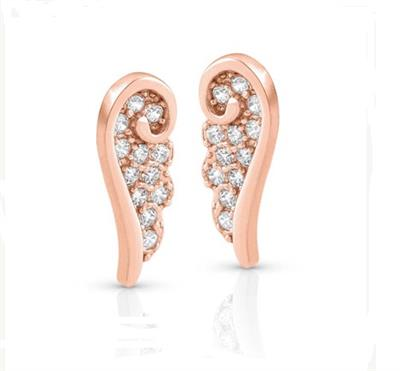 Buy Nomination Angel CZ Studs Rose Gold