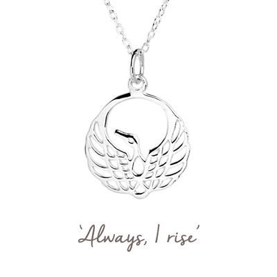 Buy Mantra Phoenix Necklace in Silver