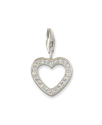 Buy Thomas Sabo Open Heart Charm with Cubic Zirconia