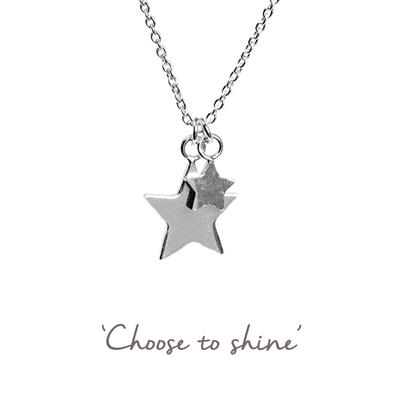 Buy Double Star Mantra Necklace in Silver