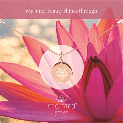 Buy Mantra Lotus Inner Beauty Necklace in Rose Gold