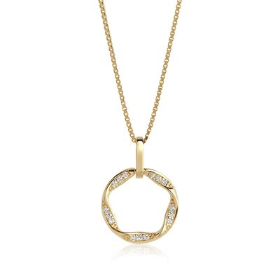 Buy Sif Jakobs 18k Gold Plated Cetara Piccolo Necklace with White Zirconia - 45cm