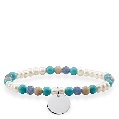 Buy Thomas Sabo Love Bridge Pearl Mix Disc Bracelet 16.5cm