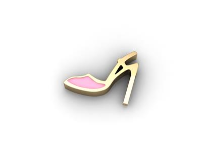 Buy Key Moments Gold High Heel Moment