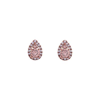 Buy Lily and Rose Elsa Rose Gold Silk Stud Earrings