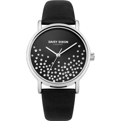 Buy Daisy Dixon Astra Silver and Black Sparkle Watch