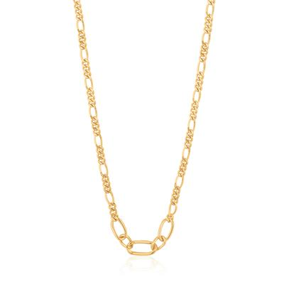 Buy Ania Haie Chain Reaction Gold Figaro Chain Necklace