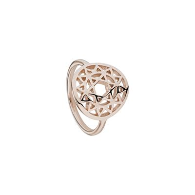 Buy Daisy Heart Chakra Rose Gold Ring Small