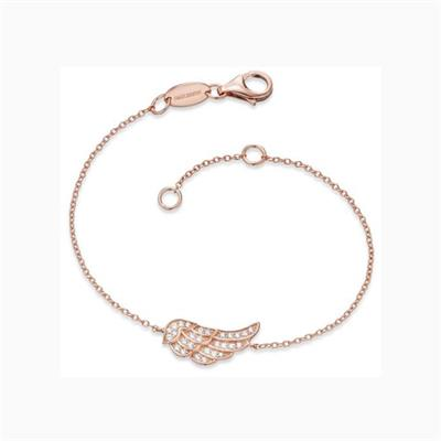 Buy Engelsrufer Rose Gold CZ Angel Wing Bracelet