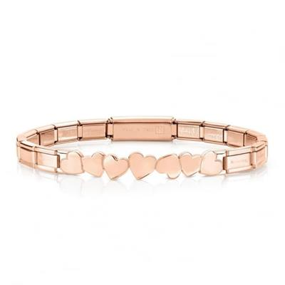 Buy Nomination Rose Gold Trendsetter Hearts Bracelet