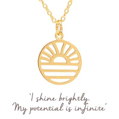 Buy Mantra Samantha Hearne Sun Rising Necklace in Gold