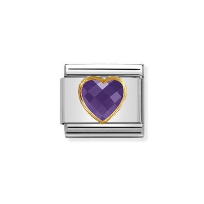 Buy Nomination Faceted Purple CZ Heart