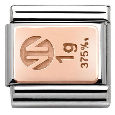 Buy Nomination Gold Bar in Rose Gold Charm