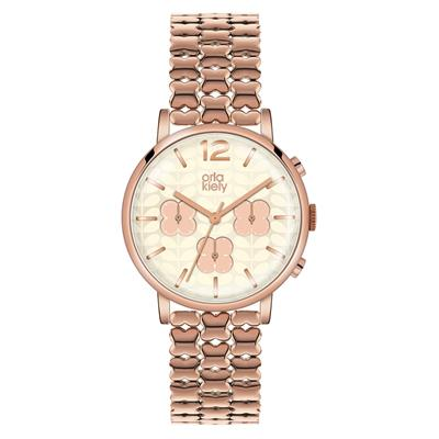 Buy Orla Kiely Orla Rose Gold Chronograph Watch