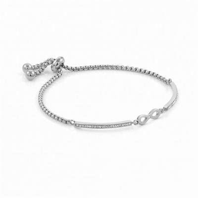Buy Nomination Milleluci Stainless Steel Pav Infinity Toggle Pav Half Bangle