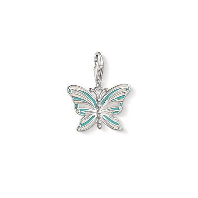 Buy Thomas Sabo Silver and Blue Butterfly Charm
