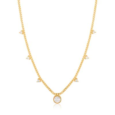 Buy Ania Haie Hidden Gem Gold Mother of Pearl Drop Disc Necklace