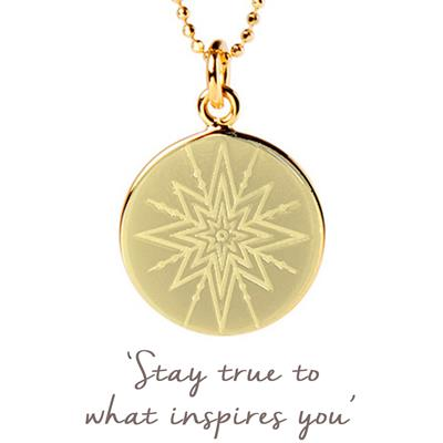 Buy Mantra Inspiring Star Disc Necklace in Gold