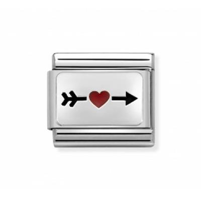 Buy Nomination Silver Arrow with Red Heart Charm