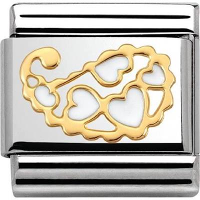 Buy Nomination Cashmere White Hearts Charm