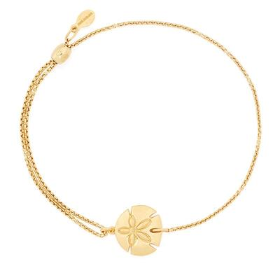 Buy Alex and Ani Sand Dollar Precious Pull Chain Bracelet in Gold
