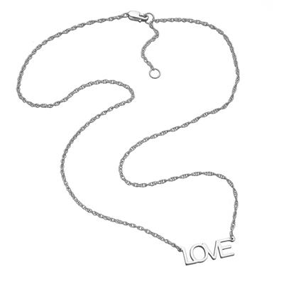 Buy Jennifer Zeuner Lucinda LOVE Necklace in Silver