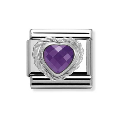 Buy Nomination Purple Faceted Heart Charm