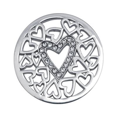 Buy Nikki Lissoni Silver Surrounded By Hearts Coin 33mm